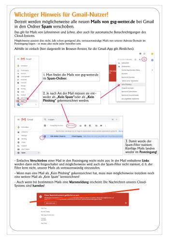 Gmail und Spam